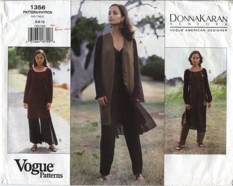Vogue 1356 Misses' Vest, Tunic & Pants - 6-8-10 - Smiths Depot Sewing Pattern Superstore