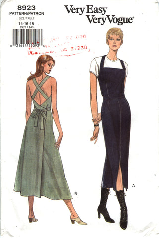 Vogue 8923 Misses' Dress - 14-16-18 - Smiths Depot Sewing Pattern Superstore
