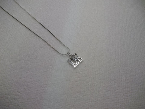 Silver Love Necklace (N345)