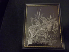 Engraved Antelope Picture (C1028)