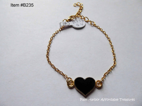 Love Heart Bracelet in Red, White, or Black