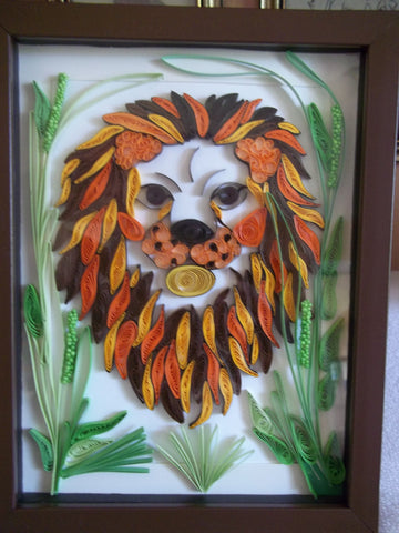 Paper Quill Lion Picture (C1049)