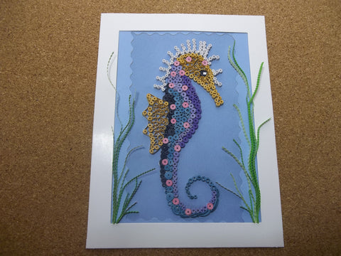 Paper Quill Seahorse Picture (C1082)