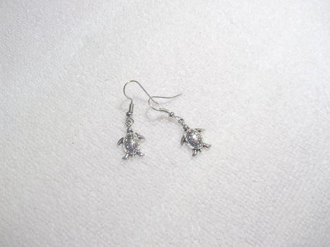 Silver Turtle Earrings (E616)