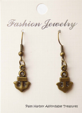 Bronze Anchor Earrings (E632)