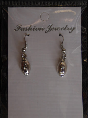 Silver Football Earrings (E703)