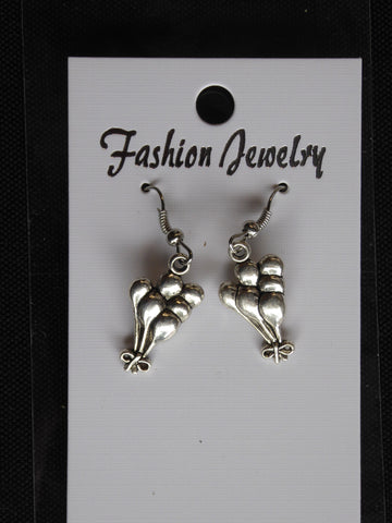 Silver Balloon Earrings (E704)