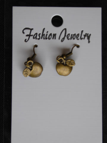 Bronze Apple Earrings (E717)