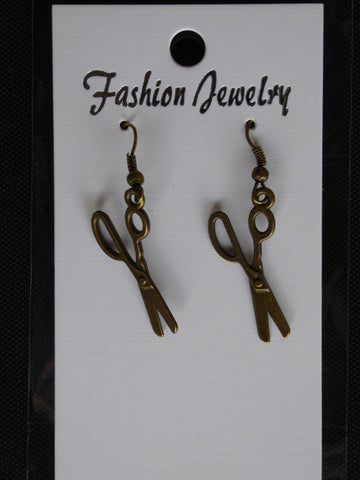 Bronze Scissor Earrings (E718)