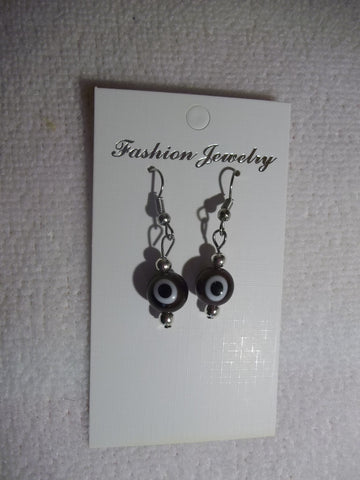 Purple Evil Eye Earrings (E734)