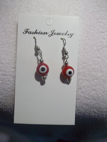 Red Evil Eye Earrings (E735)