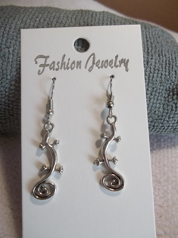 Silver Lizard Earrings (E745)