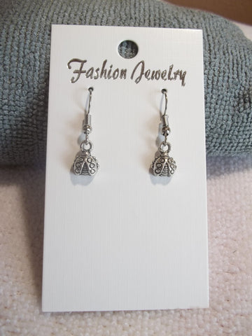 Silver Ladybug Earrings (E747)