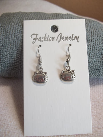 Silver Hello Kitty Earrings (E749)