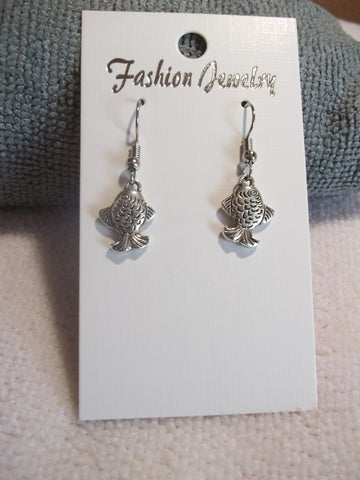 Silver Fish Earrings (E752)