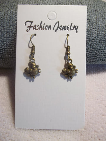 Bronze Crab Earrings (E756)