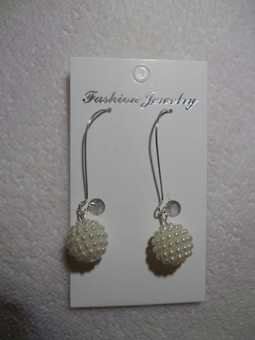 Silver Multi Pearl Ball Earrings (E763)