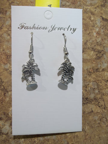 Silver Palm Tree Earrings (E768)