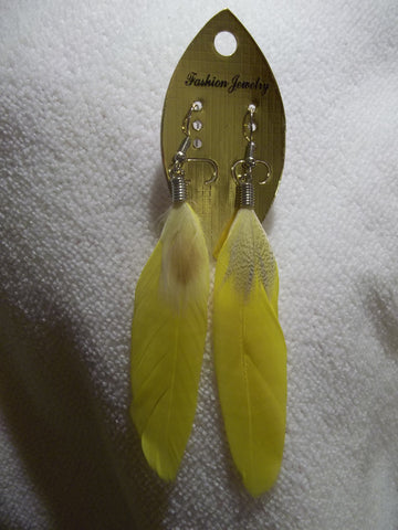 Yellow Feather Earrings (E785)