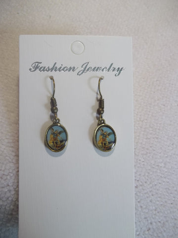 Bronze Archangel Earrings (E833)