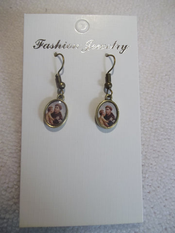 Bronze St. Anthony of Padus Earrings (E834)