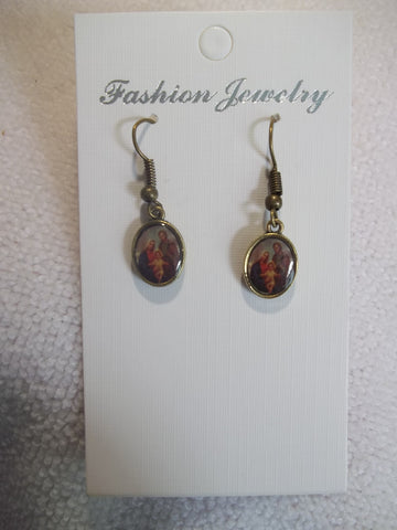 Bronze Scared Family Earrings (E836)