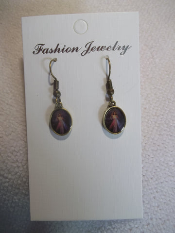Bronze Christ Earrings (E837)