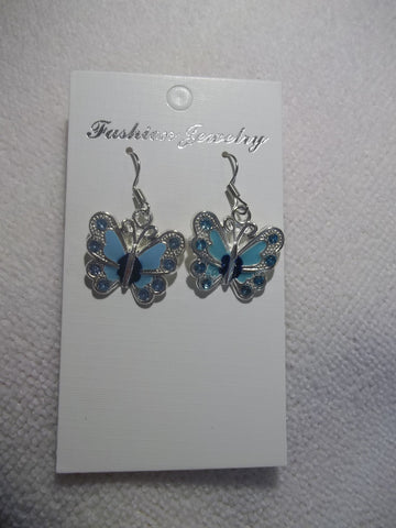 Blue Butterfly Earrings (E852)