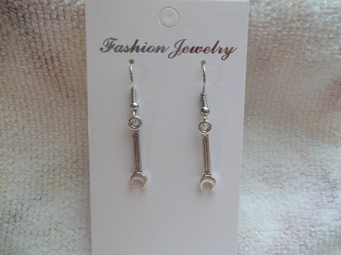 Silver Wrench Earrings (E875)