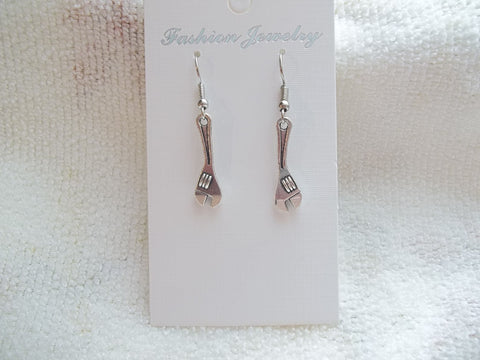 Silver Adjustable Wrench Earrings (E876)