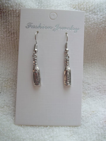 Silver B**r Bottle Earrings (E877)