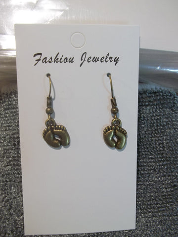 Bronze Feet Earrings (E889)