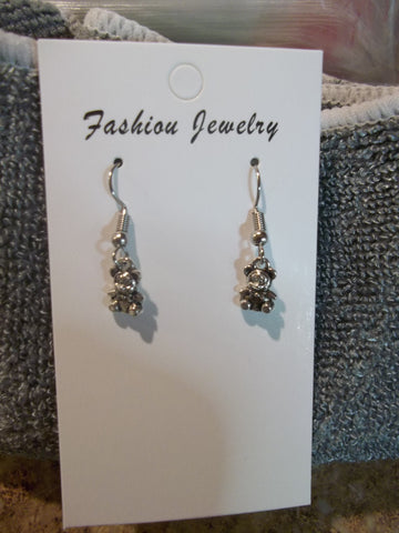 Silver Bear Earrings (E891)