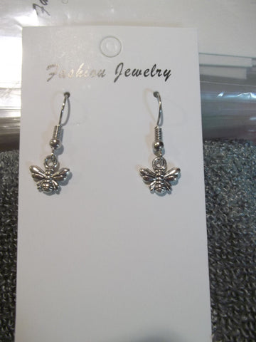 Silver Bee Earrings (E893)