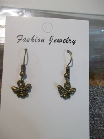 Bronze Bee Earrings (E894)