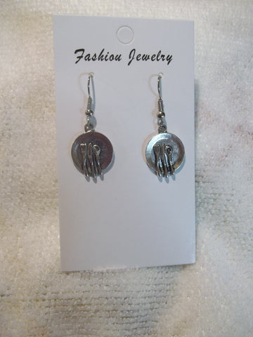 Silver Silverware Plate Earrings (E903)