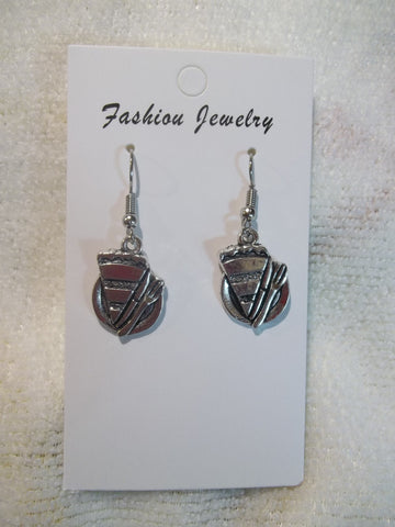 Silver Piece of Pie Earrings (E905)