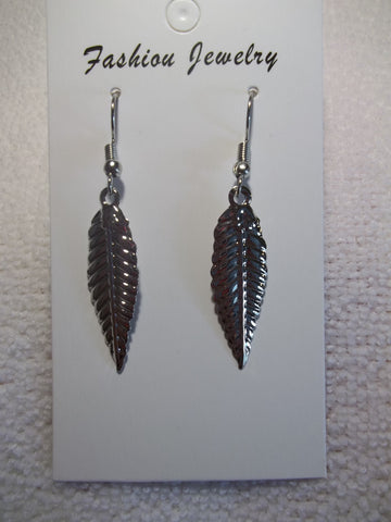Silver Leaf Earrings (E926)