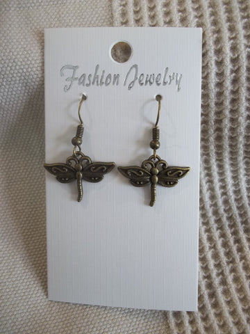 Bronze Dragonfly Earrings (E938)