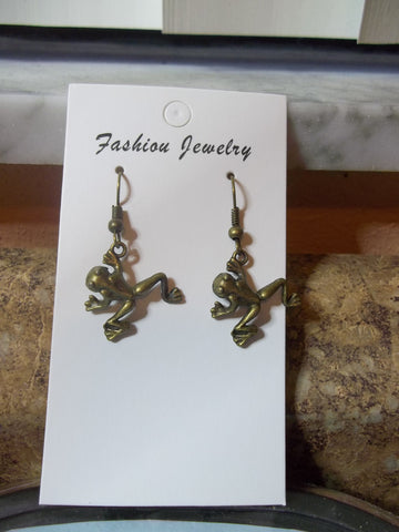 Bronze Frog Earrings (E951)