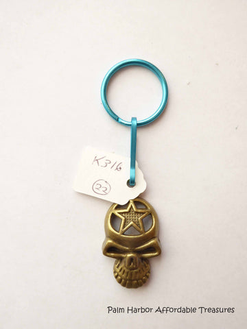 Bronze Skull Key Chain (K316)