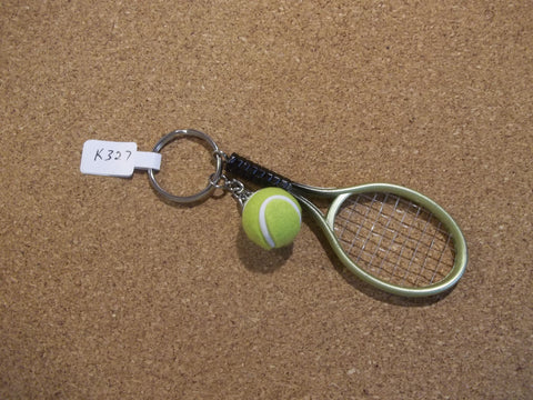 Green Tennis Racket and Ball Key Chain (K327)
