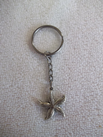 Silver Starfish Key Chain (K344)
