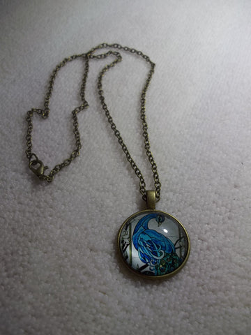 Bronze Bubble Blue Peacock Necklace (N1049)