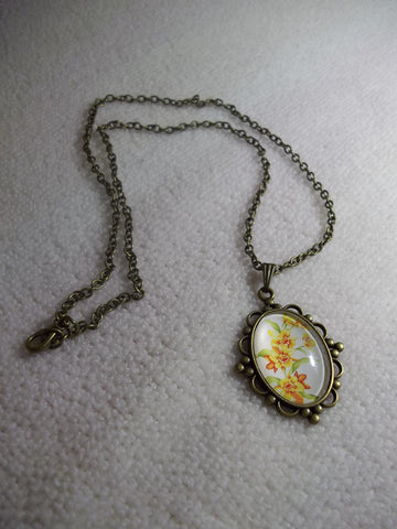 Bronze Bubble Yellow Flowers Necklace (N1056)