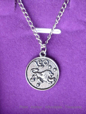 Leo Zodiac Necklace (N247S or N247B)
