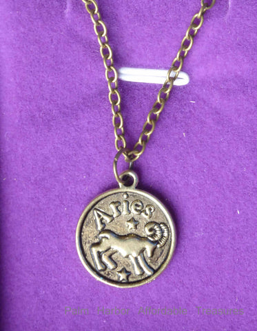 Aries Zodiac Necklace (N249S or N249B)