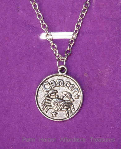 Cancer Zodiac Necklace (N251S)