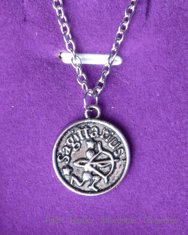 Sagittarius Zodiac Necklace (N253S or N253B)