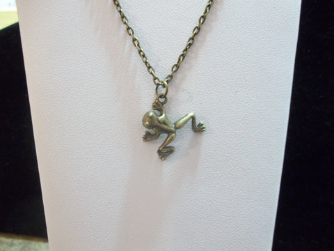 Bronze Frog Necklace (N394)